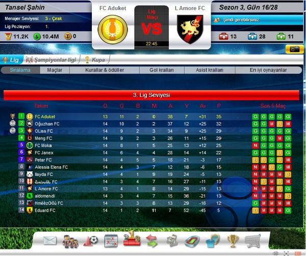 Top Eleven tham gia các giải đấu bên lề để kiếm tiền thưởng, nâng cấp đội bón Top-eleven-lig-tablosu-41e33