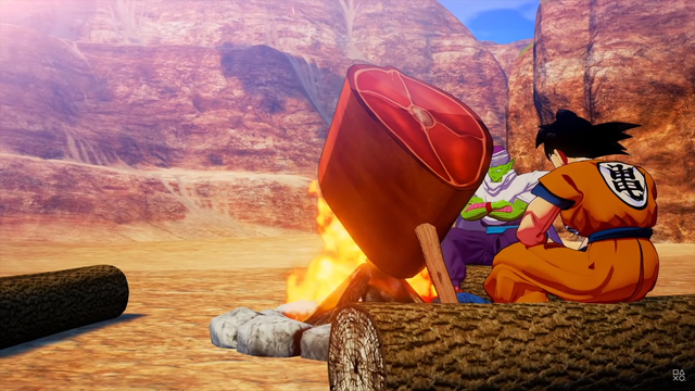 Bất ngờ với gameplay của Dragon Ball Z: Kakarot – Săn thú, nướng thị như ARK - Ảnh 1.
