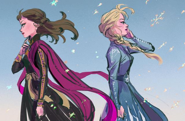 Chị em Nữ hoàng băng giá Elsa trong Frozen lột xác từ diện mạo tới tính cách qua nét vẽ của fan - Ảnh 6.