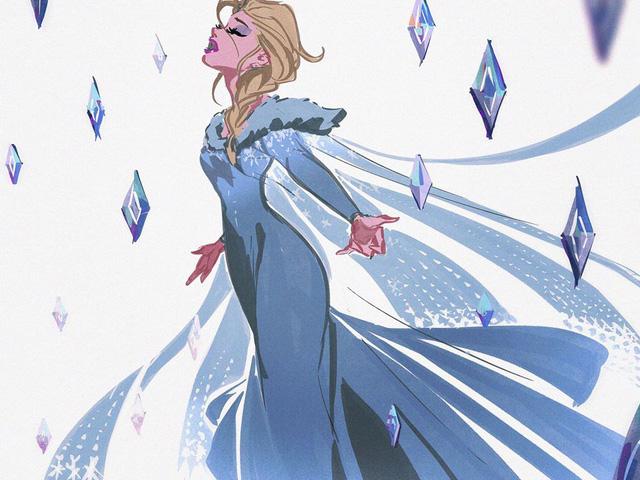 Chị em Nữ hoàng băng giá Elsa trong Frozen lột xác từ diện mạo tới tính cách qua nét vẽ của fan - Ảnh 7.