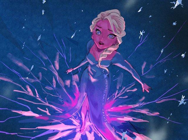 Chị em Nữ hoàng băng giá Elsa trong Frozen lột xác từ diện mạo tới tính cách qua nét vẽ của fan - Ảnh 8.