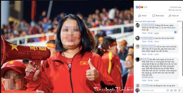 Spam Bay lên trời là em bay ra ngoài đau đầu nhức óc, nữ CĐV bị cộng đồng mạng tổng tấn công Facebook cá nhân - Ảnh 1.