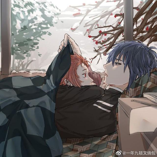 Kimetsu no Yaiba: Thủy trụ và Tanjirou bất ngờ được fan ghép đôi, anh anh em em cũng khá hợp - Ảnh 6.