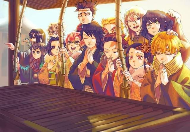 Dàn nhân vật Kimetsu no Yaiba rủ nhau diện kimono Nhật Bản tưng bừng đón năm mới - Ảnh 2.