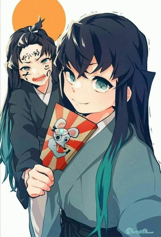 Dàn nhân vật Kimetsu no Yaiba rủ nhau diện kimono Nhật Bản tưng bừng đón năm mới - Ảnh 3.