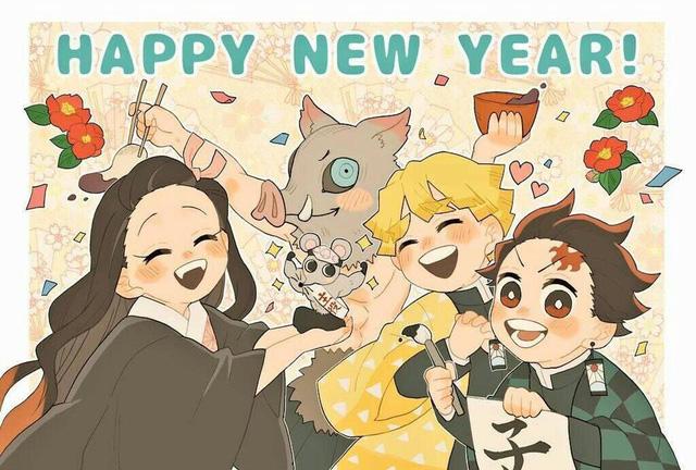 Dàn nhân vật Kimetsu no Yaiba rủ nhau diện kimono Nhật Bản tưng bừng đón năm mới - Ảnh 8.