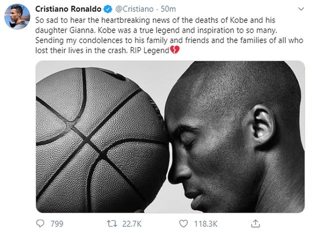 Huyền thoại bóng rổ Kobe Bryant qua đời, loạt streamer và cộng đồng mạng bày tỏ sự tiếc thương vô hạn - Ảnh 4.