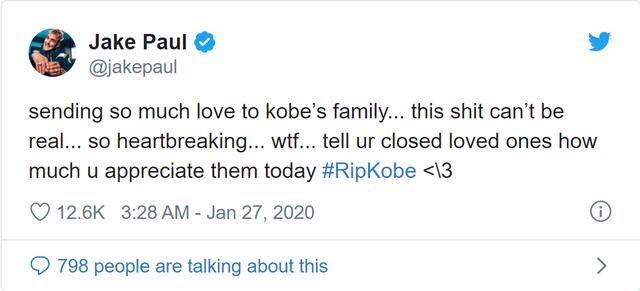 Huyền thoại bóng rổ Kobe Bryant qua đời, loạt streamer và cộng đồng mạng bày tỏ sự tiếc thương vô hạn - Ảnh 3.