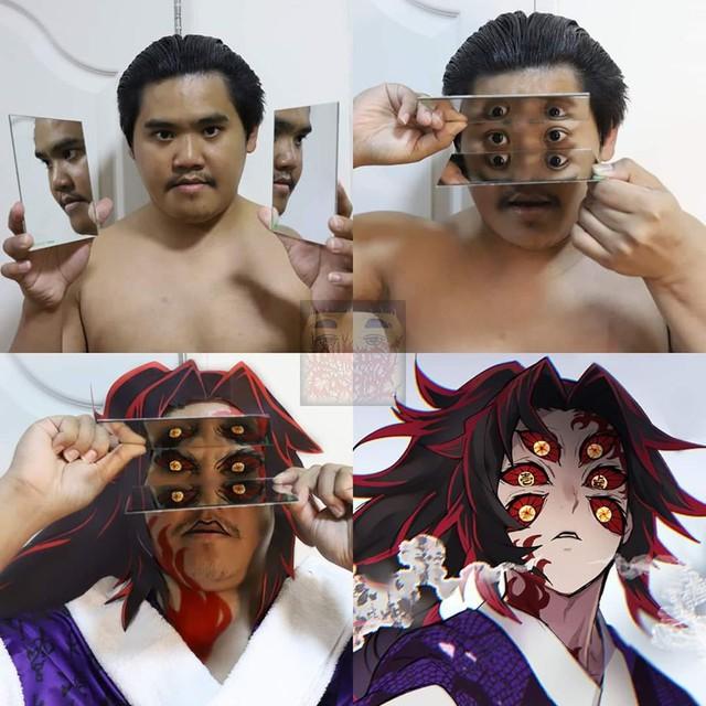Kimetsu no Yaiba: Đỉnh cao của sự sáng tạo, thánh cosplay giá rẻ hóa trang thành cụ nhất và nhận được mưa lời khen - Ảnh 2.