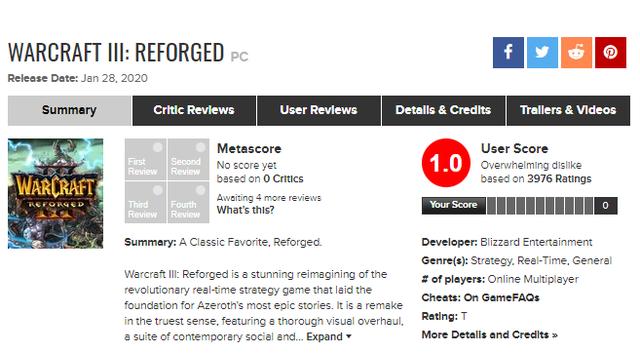 """Đầu năm đã gặp """"cú lừa"""", Warcraft 3: Reforged trở thành game tệ nhất lịch sử Blizzard - Ảnh 2."""