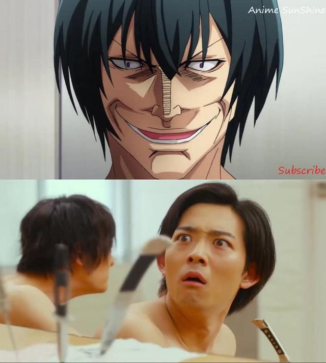 Chết cười khi ngắm loạt ảnh so sánh phiên bản anime với live action của Grand Blue, đến cảnh nude mà cũng không tha - Ảnh 5.