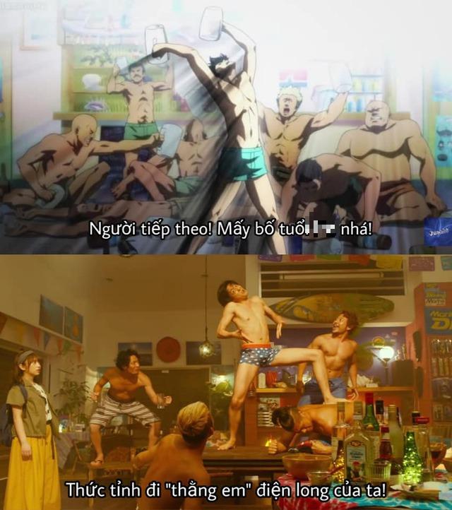 Chết cười khi ngắm loạt ảnh so sánh phiên bản anime với live action của Grand Blue, đến cảnh nude mà cũng không tha - Ảnh 9.