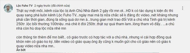 Lộc Fuho tiết lộ kênh Youtube có khả năng bị sập nếu không có 250 triệu, hé lộ lý do không quay cùng cô giáo hot girl Trân Trần nữa - Ảnh 2.