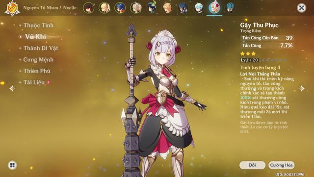 Hướng dẫn build Noelle - Cô nàng hầu gái Tanker xinh và gợi cảm nhất Genshin Impact - Ảnh 8.