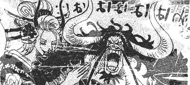 Spoiler nhanh One Piece chap 992: Kaido dùng sấm sét tấn công Cửu Hồng Bao, Momo không muốn nhận cha - Ảnh 2.