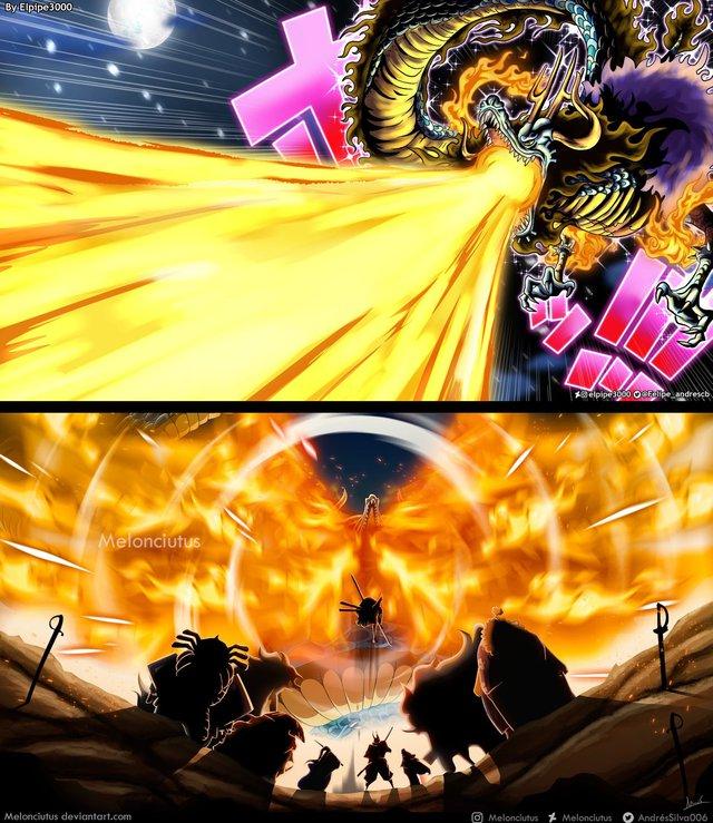 Kaido lại tiếp tục bị nhóm Cửu Hồng Bao khắc chế đòn tấn công