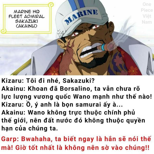 Đã từng cảnh báo Kizaru về sức mạnh của lực lượng samurai tại Wano quốc