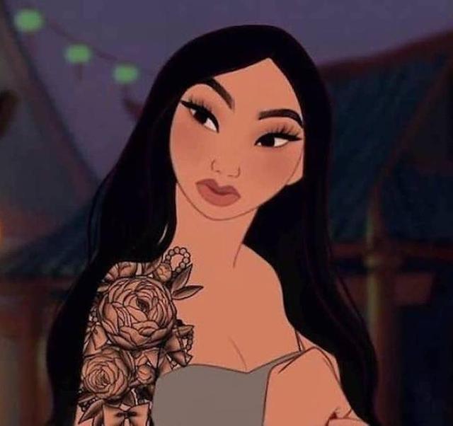 Hú hồn trước màn lột xác siêu ngầu của các công chúa Disney, bá đạo nhất là cô nàng Mulan phá cách xăm kín đầy mình - Ảnh 14.