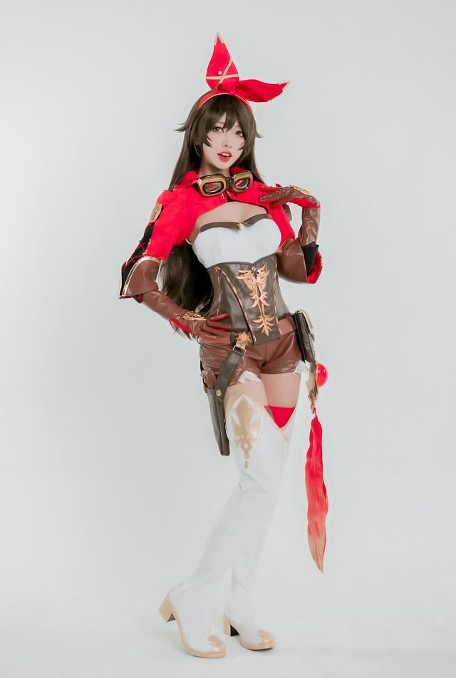 Tan chảy với bộ ảnh cosplay Amber trong Genshin Impact, xinh tựa thiên thần - Ảnh 5.