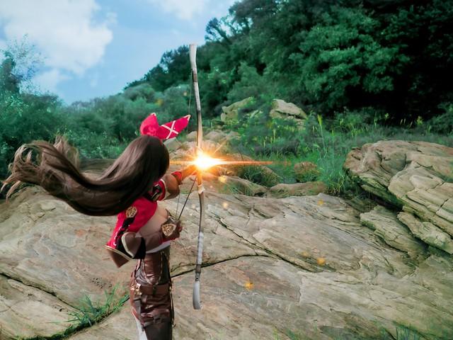 Tan chảy với bộ ảnh cosplay Amber trong Genshin Impact, xinh tựa thiên thần - Ảnh 12.
