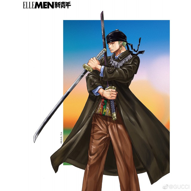 One Piece: Kỷ niệm 4 năm phát hành, tạp chí nổi tiếng của Trung Quốc cho Luffy và Zoro mặc đồ Gucci xa xỉ - Ảnh 9.