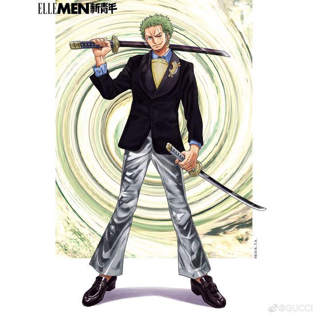 One Piece: Kỷ niệm 4 năm phát hành, tạp chí nổi tiếng của Trung Quốc cho Luffy và Zoro mặc đồ Gucci xa xỉ - Ảnh 11.