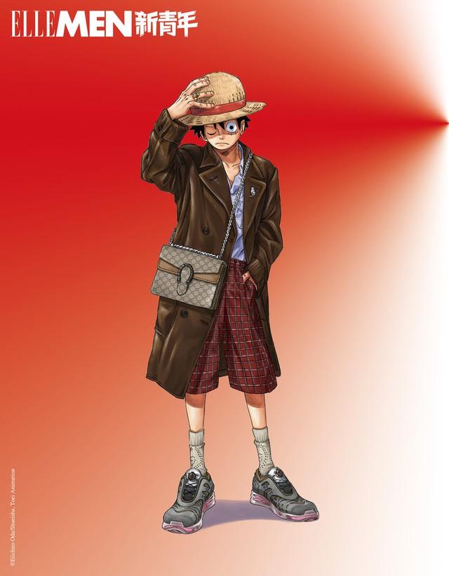 One Piece: Kỷ niệm 4 năm phát hành, tạp chí nổi tiếng của Trung Quốc cho Luffy và Zoro mặc đồ Gucci xa xỉ - Ảnh 3.