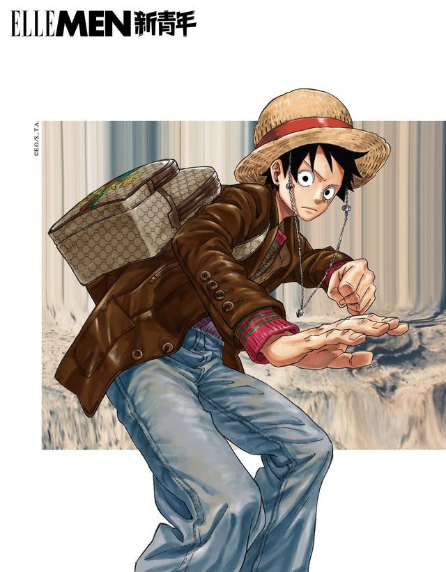 One Piece: Kỷ niệm 4 năm phát hành, tạp chí nổi tiếng của Trung Quốc cho Luffy và Zoro mặc đồ Gucci xa xỉ - Ảnh 4.