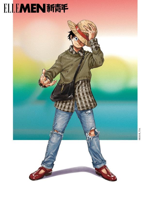 One Piece: Kỷ niệm 4 năm phát hành, tạp chí nổi tiếng của Trung Quốc cho Luffy và Zoro mặc đồ Gucci xa xỉ - Ảnh 5.