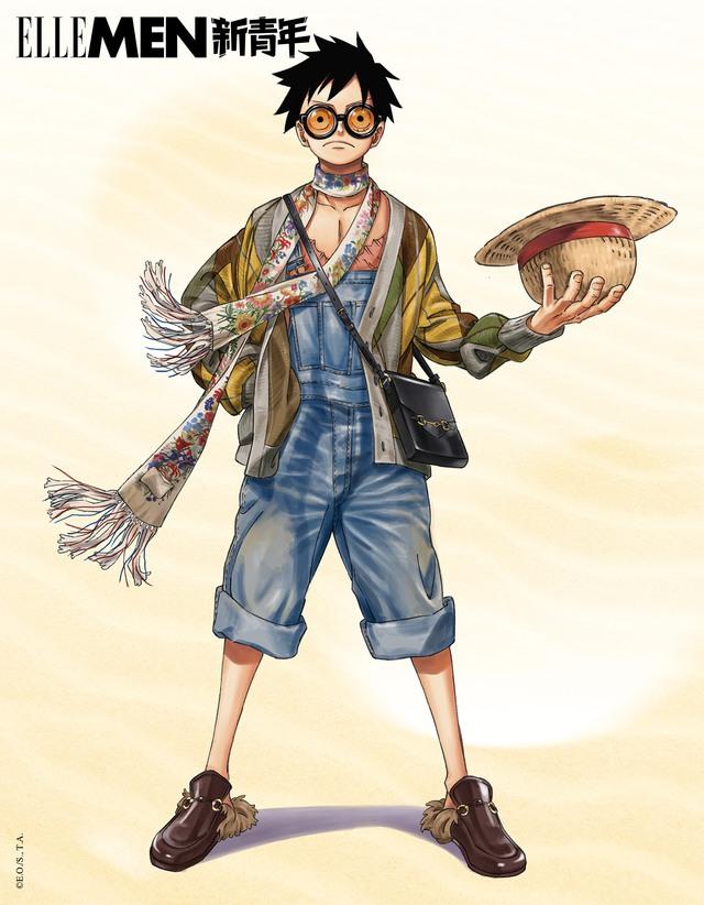 One Piece: Kỷ niệm 4 năm phát hành, tạp chí nổi tiếng của Trung Quốc cho Luffy và Zoro mặc đồ Gucci xa xỉ - Ảnh 6.
