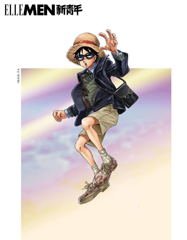 One Piece: Kỷ niệm 4 năm phát hành, tạp chí nổi tiếng của Trung Quốc cho Luffy và Zoro mặc đồ Gucci xa xỉ - Ảnh 7.