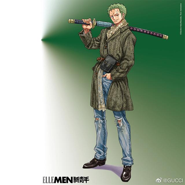 One Piece: Kỷ niệm 4 năm phát hành, tạp chí nổi tiếng của Trung Quốc cho Luffy và Zoro mặc đồ Gucci xa xỉ - Ảnh 8.
