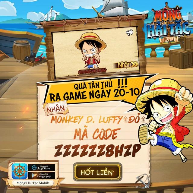 Game One Piece siêu HOT của tháng 10 - Mộng Hải Tặc Mobile chính thức ra mắt, tặng ngay 1000 Giftcode - Ảnh 1.