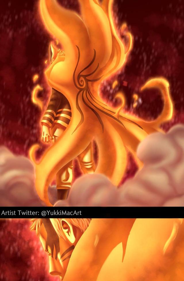 Boruto: Loạt tranh siêu đỉnh về hình thức Thần Cáo của Naruto - trạng thái tối thượng có thể khiến ngài Hokage phải chết - Ảnh 4.