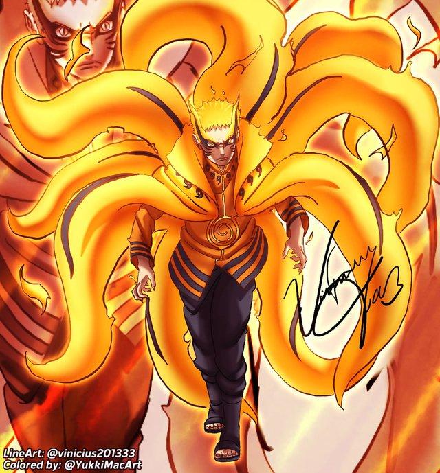 Boruto: Loạt tranh siêu đỉnh về hình thức Thần Cáo của Naruto - trạng thái tối thượng có thể khiến ngài Hokage phải chết - Ảnh 5.