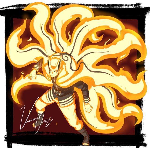Boruto: Loạt tranh siêu đỉnh về hình thức Thần Cáo của Naruto - trạng thái tối thượng có thể khiến ngài Hokage phải chết - Ảnh 3.
