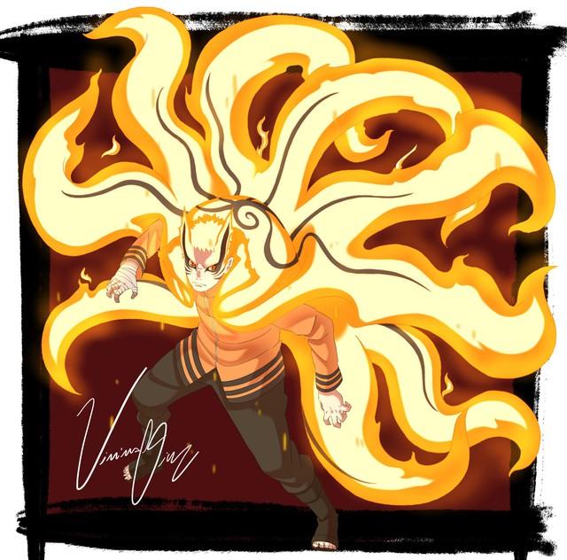 Boruto: Loạt tranh siêu đỉnh về hình thức Thần Cáo của Naruto - trạng thái tối thượng có thể khiến ngài Hokage phải chết - Ảnh 7.
