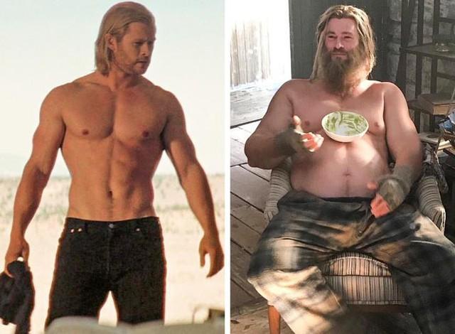 7 lần biến hình đáng kinh ngạc của dàn sao Marvel, sốc nhất là Thor và Captain America - Ảnh 4.