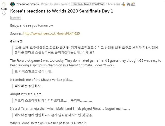 Dù thắng trận nhưng Netizen Hàn vẫn có cớ chỉ trích DAMWON Gaming - Meta nào rồi còn pick Fiora - Ảnh 3.