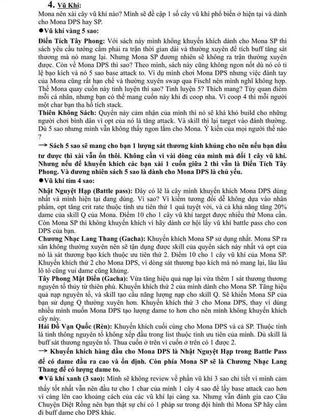 Xuất hiện giáo sư Genshin Impact, làm bài luận dài 5 trang giấy để hướng dẫn xây dựng nhân vật - Ảnh 5.