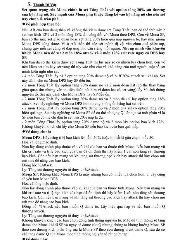 Xuất hiện giáo sư Genshin Impact, làm bài luận dài 5 trang giấy để hướng dẫn xây dựng nhân vật - Ảnh 6.