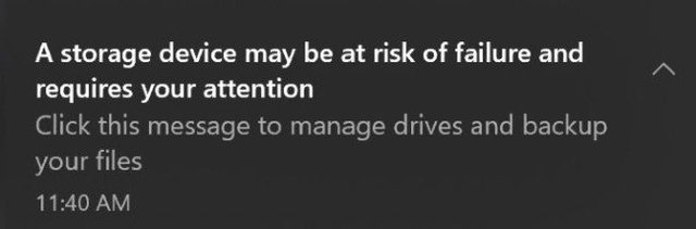 Windows 10 sắp có tính năng cảnh báo ổ cứng sắp hỏng - Ảnh 2.