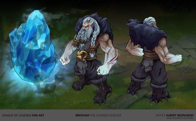 LMHT: Trầm trồ với fanmade tướng mới Brenvar - Siêu lực sĩ có khả năng phá hủy địa hình - Ảnh 3.