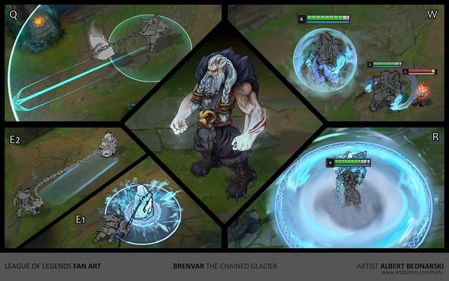 LMHT: Trầm trồ với fanmade tướng mới Brenvar - Siêu lực sĩ có khả năng phá hủy địa hình - Ảnh 11.