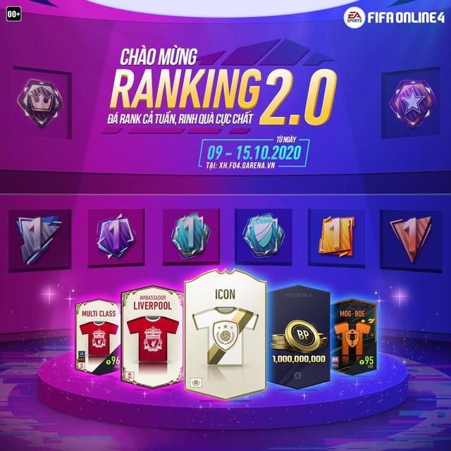 FIFA Online 4 chào mừng RANKING 2.0 bằng siêu sự kiện: Áo Thun Limited, Icons, quà khủng danh cho người chơi - Ảnh 1.