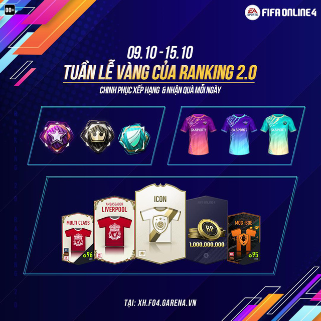 FIFA Online 4 chào mừng RANKING 2.0 bằng siêu sự kiện: Áo Thun Limited, Icons, quà khủng danh cho người chơi - Ảnh 2.
