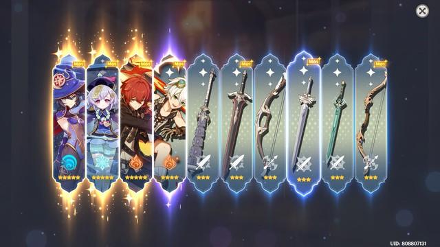 [Genshin Impact] Game thủ Việt lập kỷ lục quay ra 3 nhân vật 5 sao chỉ trong 1 lượt - Ảnh 2.