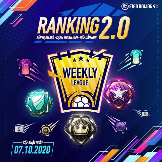 Game thủ FIFA Online 4 phát sốt với bản cập nhật tháng 10: Ranking 2.0 mới lạ với quà khủng và Weekly League siêu thú vị - Ảnh 1.