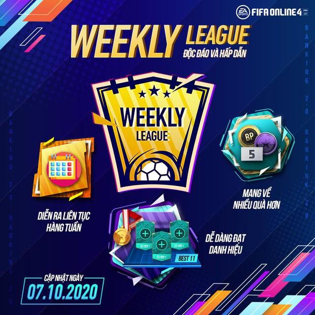 Game thủ FIFA Online 4 phát sốt với bản cập nhật tháng 10: Ranking 2.0 mới lạ với quà khủng và Weekly League siêu thú vị - Ảnh 2.