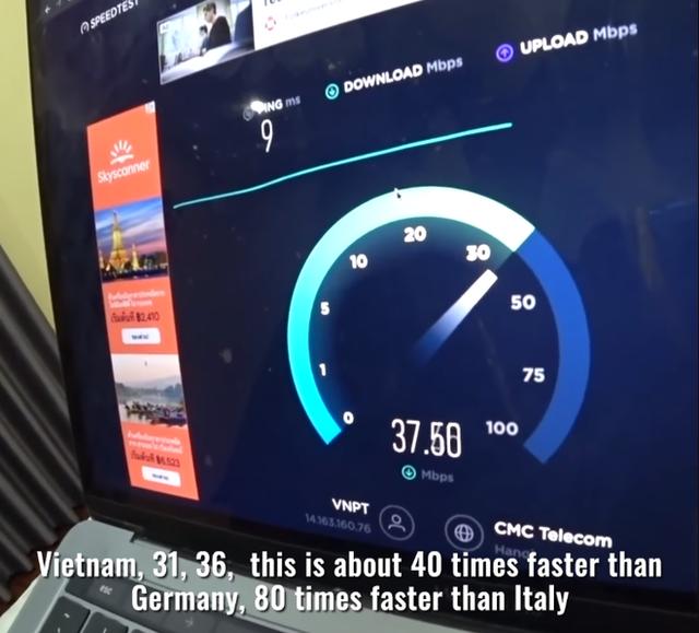 Youtuber thế giới sốc nặng trước tốc độ Internet ở nông thôn Việt Nam, nhanh gấp 80 lần so với một số nước châu Âu - Ảnh 1.